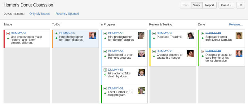 Sample Agile Board