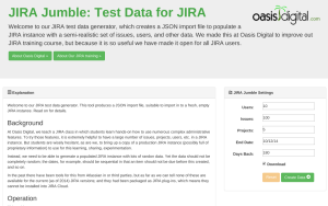 JIRA Jumble  Test Data for JIRA